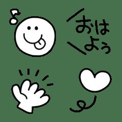 シンプル可愛い♥️ニコちゃん挨拶など
