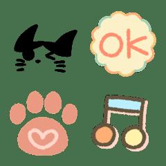 シンプル絵文字(猫とともに2)