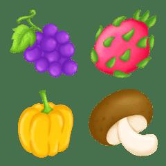 Colorful fruities cute emoji