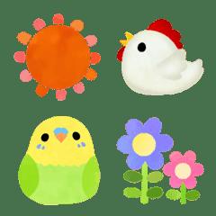ほんわか可愛い動物たちの春絵文字