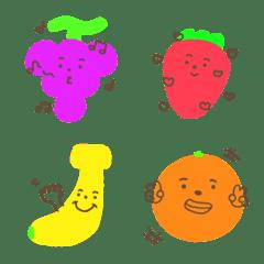 かわいい野菜と果物たち