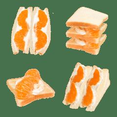 フルーツサンドです みかん パン