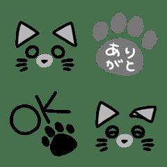 シンプル絵文字(猫とともに3)