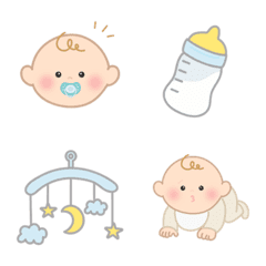 シンプルで可愛い|赤ちゃん絵文字 - 01
