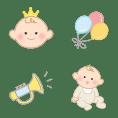 シンプルで可愛い|赤ちゃん絵文字 - 02