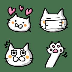エモねこ-白-絵文字