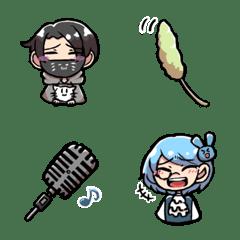 繋がる夜行性emoji (アオ&ラミ)