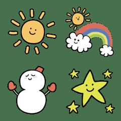 虹のお天気手帳シール