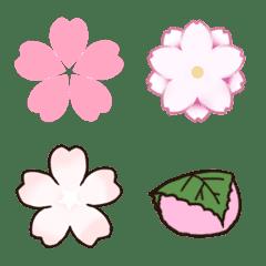 桜や桜餅の春の絵文字 by S.D
