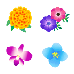 彩り添えるお花の絵文字