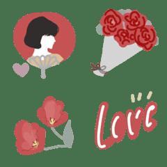 シンプル可愛い絵文字〜赤色〜
