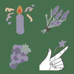シンプル可愛い絵文字〜紫色〜