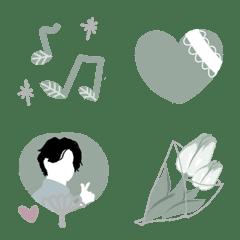 シンプル可愛い絵文字〜緑色〜