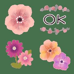 ♡大人の女性✳︎お花の挨拶絵文字Ⅱ♡