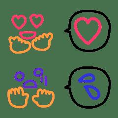 可愛いカラフル絵文字7
