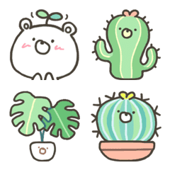 のびのび!くまの植物です絵文字