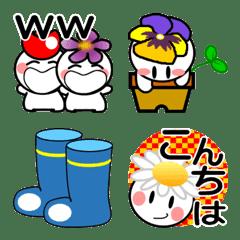 小さな花の妖精たち【絵文字】春