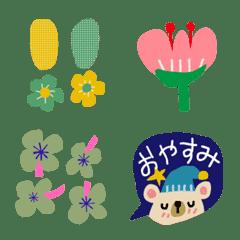 *お花で彩る絵文字*北欧風