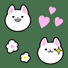 ✿可愛い♡白猫の絵文字✿