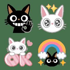 黒猫&白猫♡返事あいさつ日常