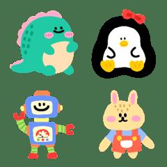 Tiny cuteness colorful emoji