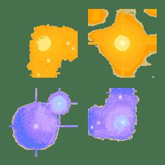 フレーム絵文字 Vol.1 キラキラ銀河