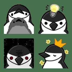 ペンギンのかおえもじ-ヒゲペンギン