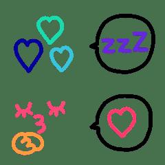 可愛いカラフル絵文字14