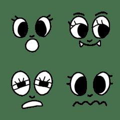【パチパチ】シンプルな目の絵文字