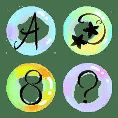 シャボン玉絵文字 アルファベット大文字