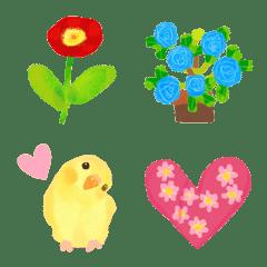 花いっぱいの絵文字