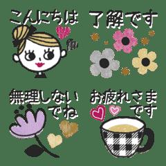 *.+オトナおしゃれLADY♡ミニスタンプ+.*