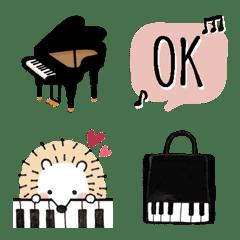 ピアノ*可愛い*ハリネズミくん♡絵文字