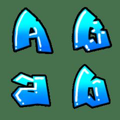 グラフィティアート文字のようなデコ文字 7