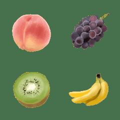 リアルな果物の絵文字
