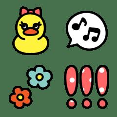 THE☆シンプル絵文字【アヒル】