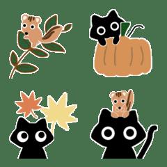 *秋*with黒猫