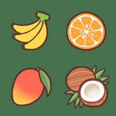 てがき風☆フルーツの絵文字