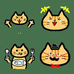 茶トラさんのねこ絵文字【ノーマル・毎日】