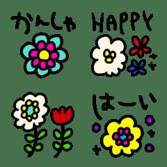 riekimのお花のセリフ入り絵文字