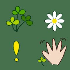 クレヨンタッチの記号 お花 葉っぱ 手など