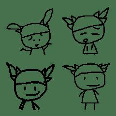 落書きガールの絵文字