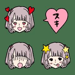 かわいい女の子の表情絵文字*アイドル風