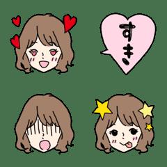 かわいい女の子の表情絵文字5*ゆるふわ