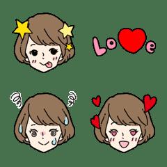 かわいい女の子の表情絵文字4*おとな女子