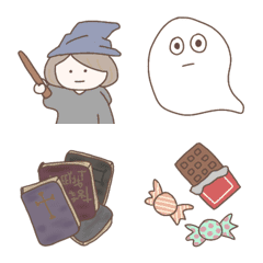 魔女とハロウィンの仲間たち絵文字