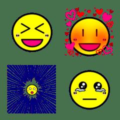 【動く】シンプル顔絵文字