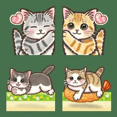 やさしい猫の動く絵文字1