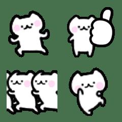 動く☆白ネコちびにゃん